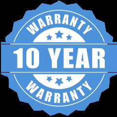 10-year warranty solar system
