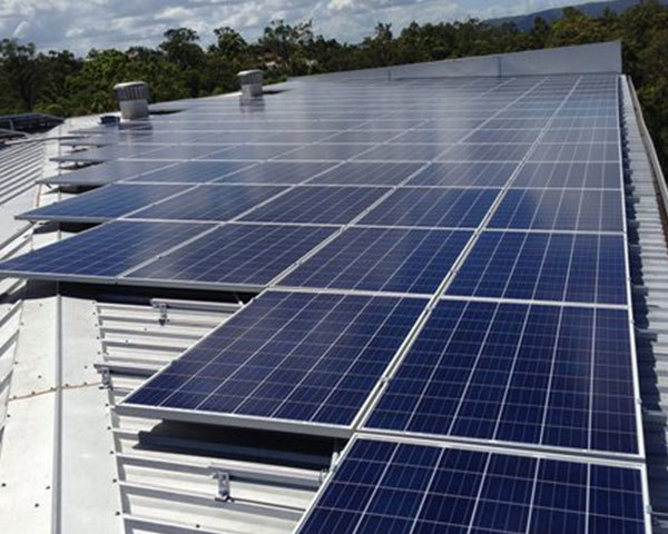 Commercial Solar Installation example