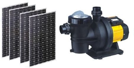 solar-swimming pool pump-and-panels