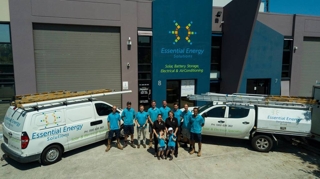 Solar System Installation Team and Admin Staff